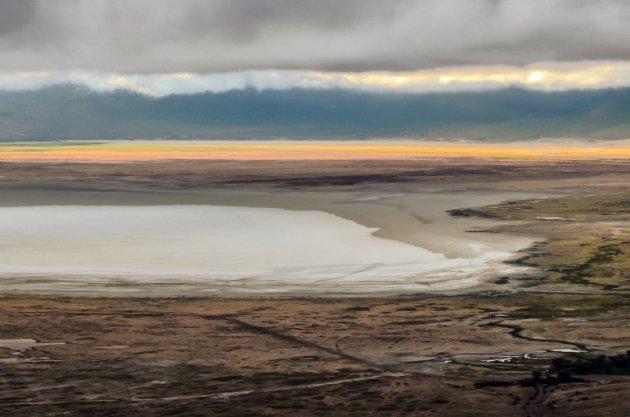 Ngorongoro: ga vroeg de krater in