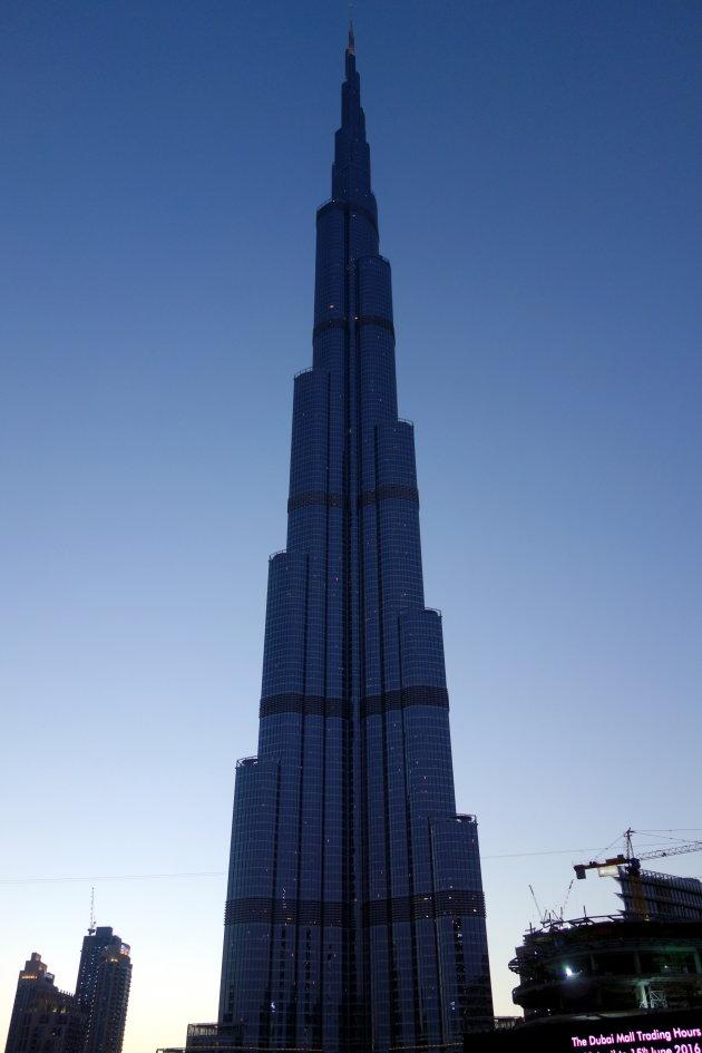 Burj Khalifa in blauwe uurtje