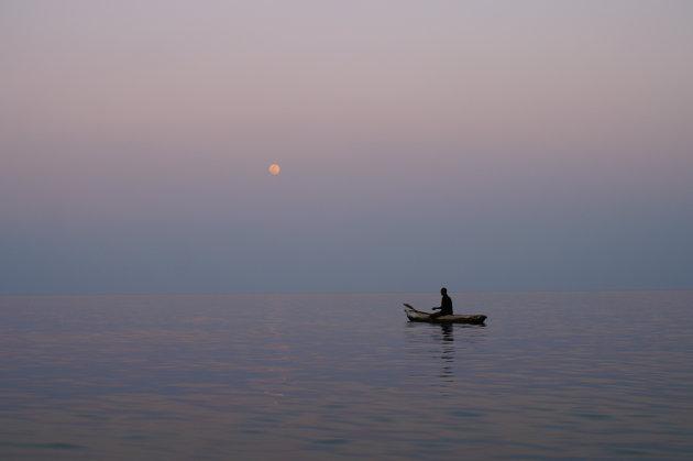 Visser op Lake Malawi