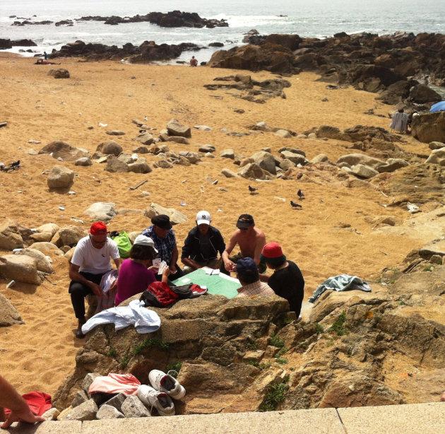 Mannenclubje van Praia do Carneiro