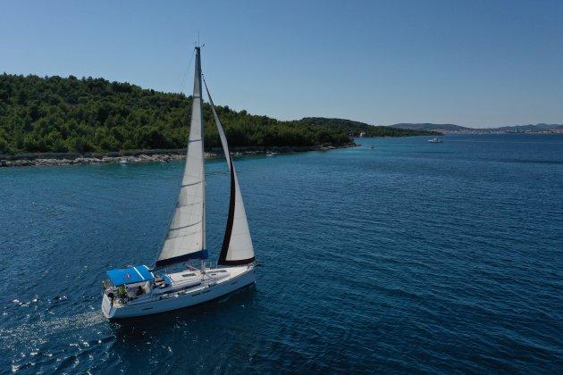 Zeilen langs de Dalmatische kust