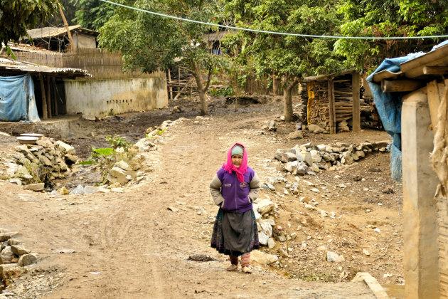 Bloemen Hmong dorpje