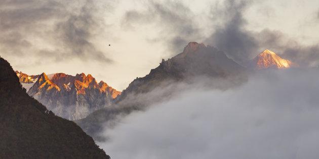 Helikoptervlucht over de Nieuw Zeelandse Alpen
