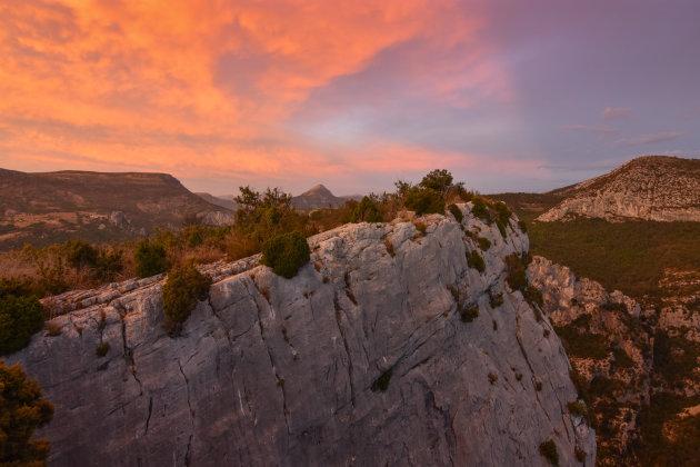 Ondergaande zon in Gorges du Verdon