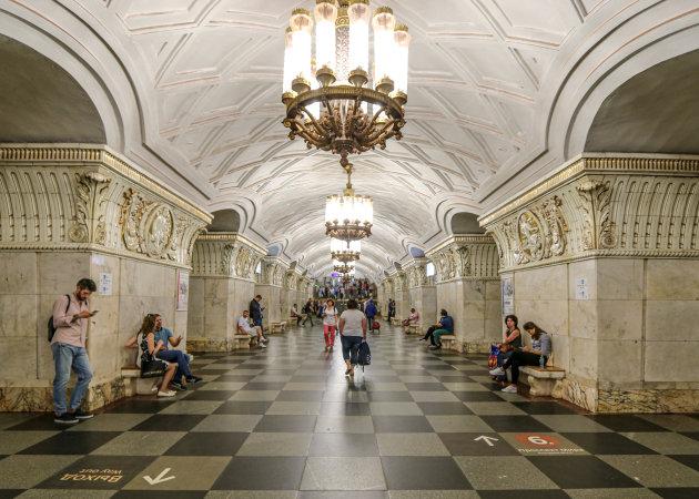 De metro stations bezoeken