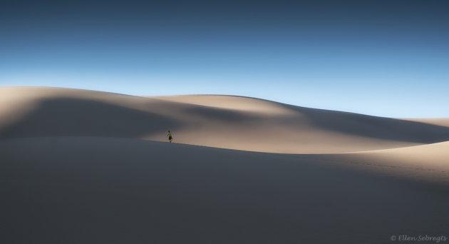 Struinen over de eindeloze duinen