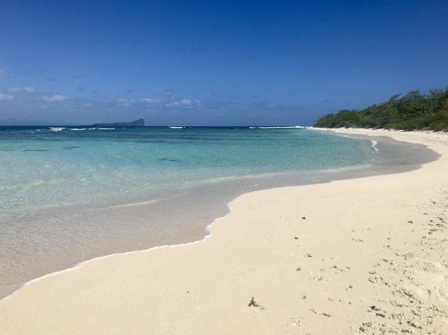 Empty beach Flat island