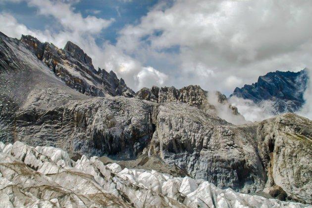 Gletsjerwandelen bij Yulong Mountain