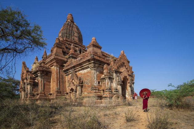 jonge monnik in Bagan