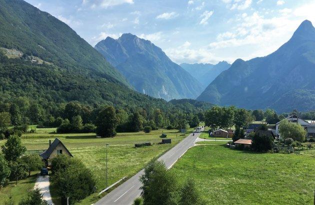 Uitzicht op de Julische Alpen