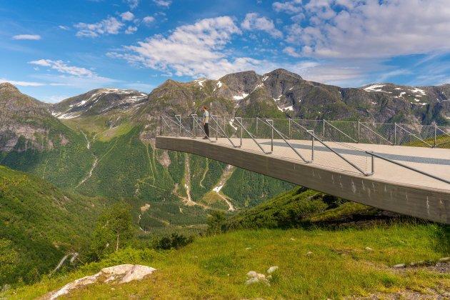 Hoogste uitzichtpunt langs de Gaularfjellet