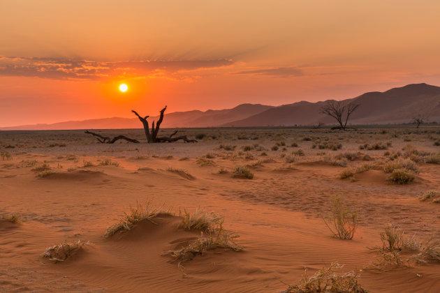 Zonsondergang in Namib-Naukluft NP