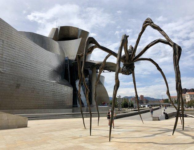 De spin bij Guggenheim Bilbao