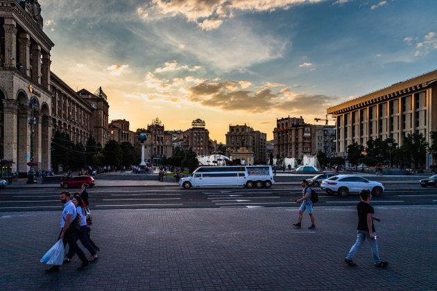 Maidan Nezalezhnosti, het onafhankelijkheidsplein.