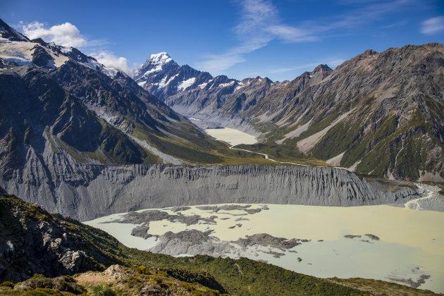 Mount Cook en de Hooker vallei via de Sealy Tarns