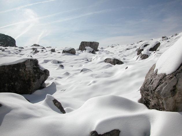 Sneeuw en Rotsen