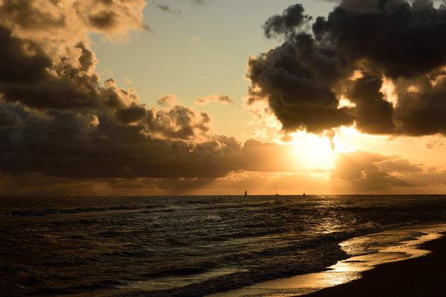 Strand van Vlieland 's ochtends vroeg
