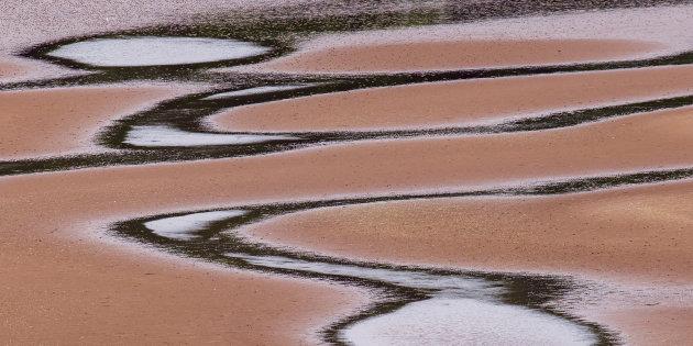 Eb op het strand van Applecross