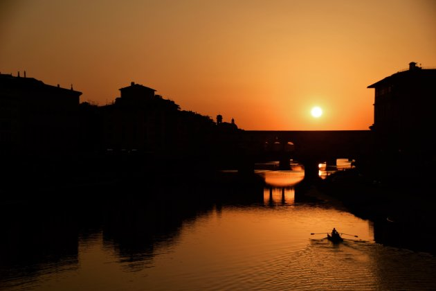 Zonsondergang in Florence