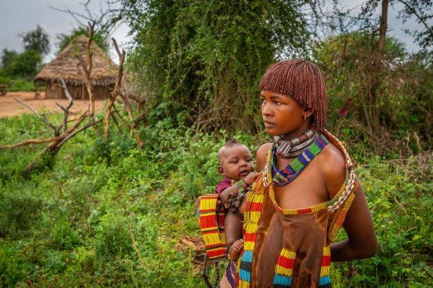 Hamervrouw met kind