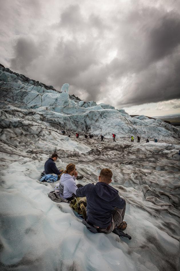 Gletsjerwandeling op de Vatnajökull
