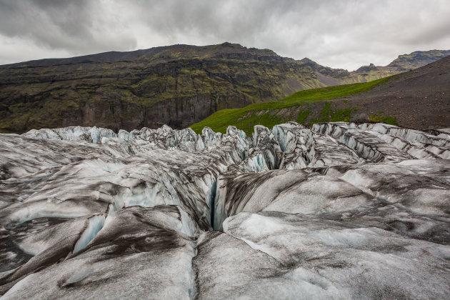 Diepe gletsjerspleten