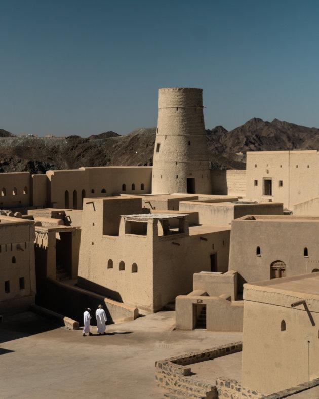 Locals in Omani fort