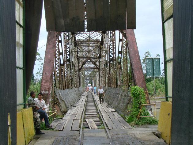 Grensovergang tussen Costa Rica en Panama.