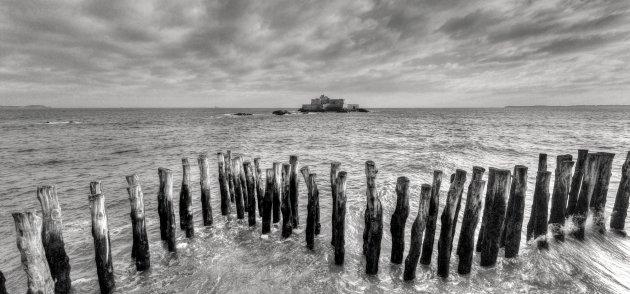 Houten zeewering Saint Malo