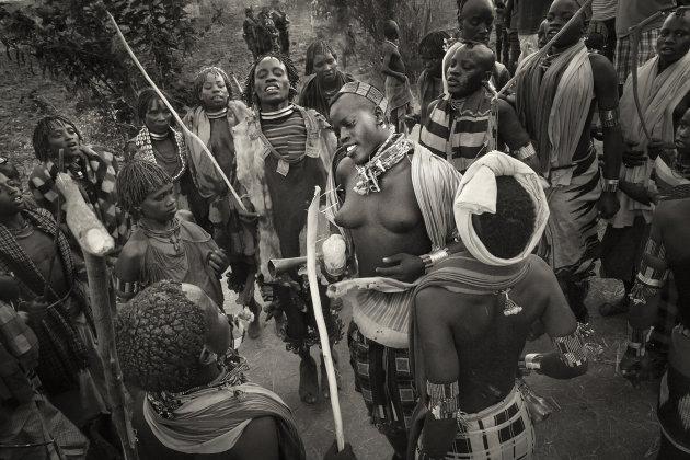 Ethiopië Bulljump ceremonie