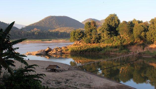 Rustiek plekje aan de Mekong