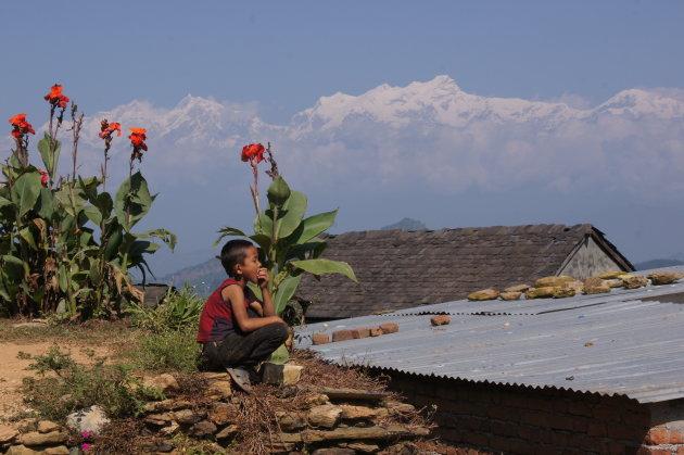 Nepal. Trektocht vanaf Bandipur naar Ramkot.