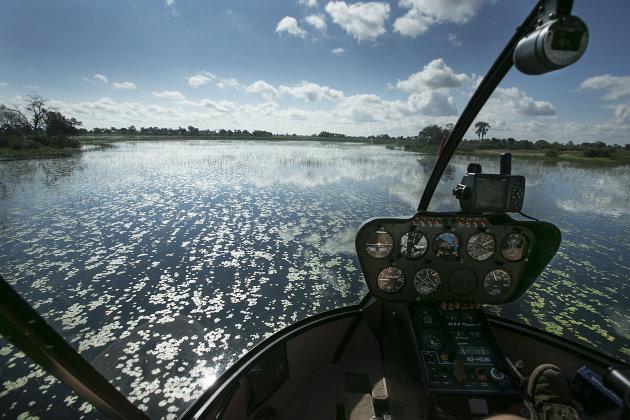Botswana Okavango Helicoptervlucht
