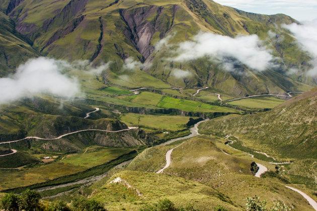 De weg van Cachi naar Cafayate