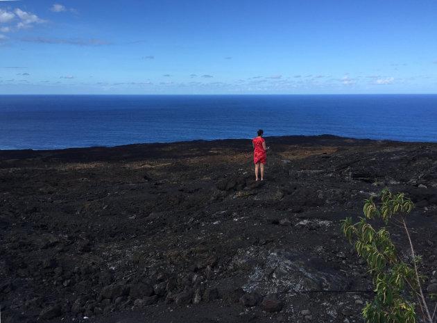 Zee van gestolde lava