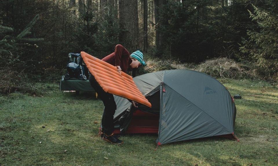 Isolerend slaapmatje winterkamperen