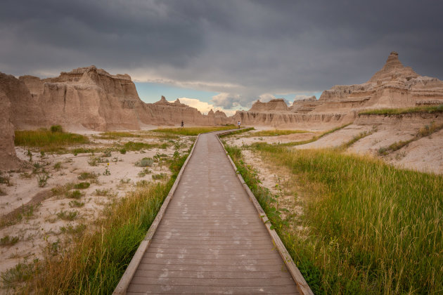 Door trail in de Badlands