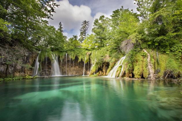 de watervallen van het Plitvice N.P.