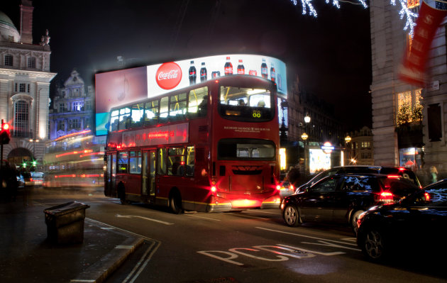De beroemde rode bus.