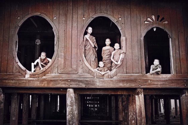Birma Inlemeer Shwe Yan Pyay klooster