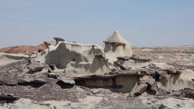 `Dogon` dorp in Bisti Badlands, New Mexico