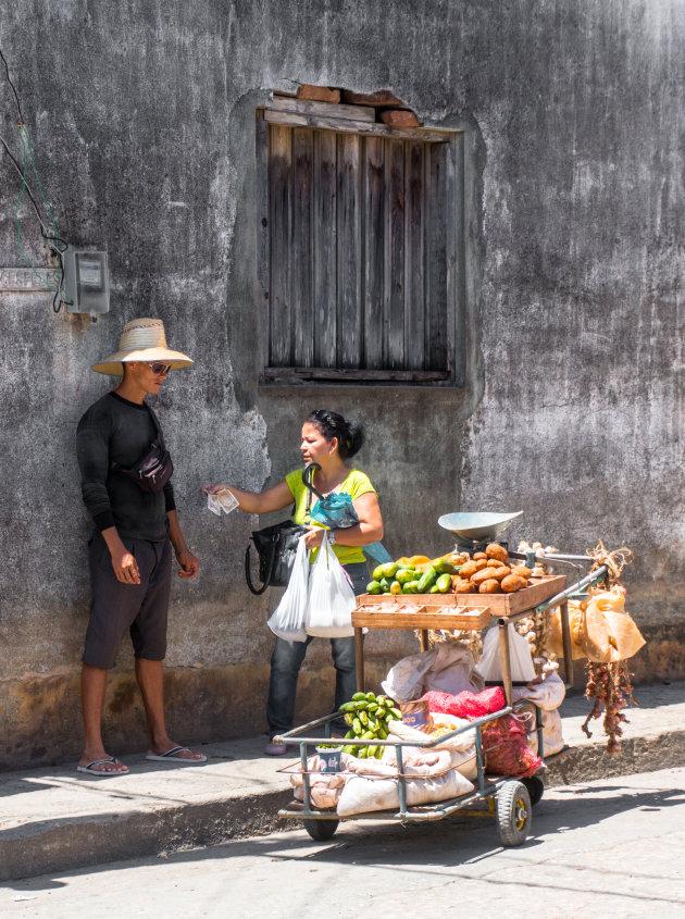 Groenteman in de Baracoa