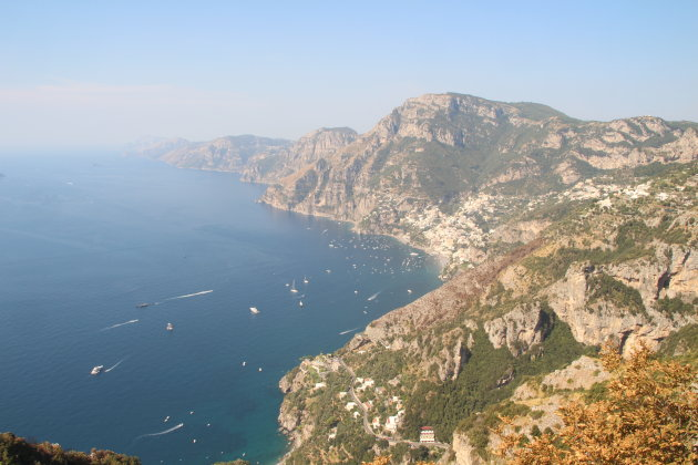 Uitzicht tijdens 'sentiero degli dei' wandeling