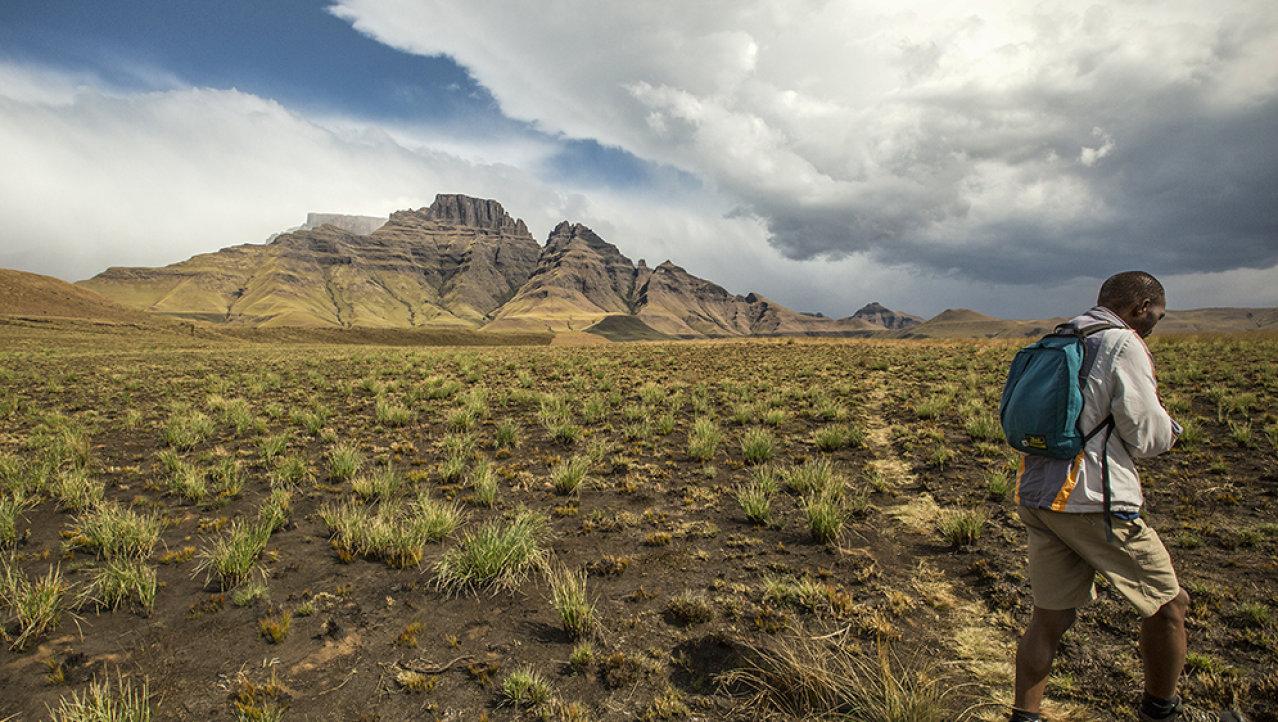 Maak een wandeling in de Drakensbergen
