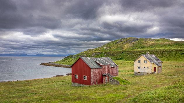 Verlaten huisjes in Noorwegen