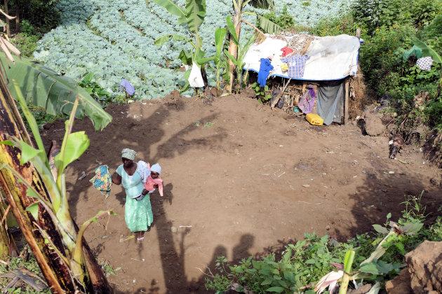 Pygmeeën dorp