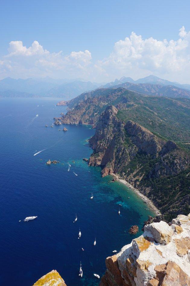 De westkust vanaf Capo Rosso