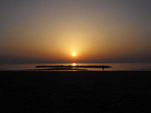 Zonsopgang aan de Adriatische kust