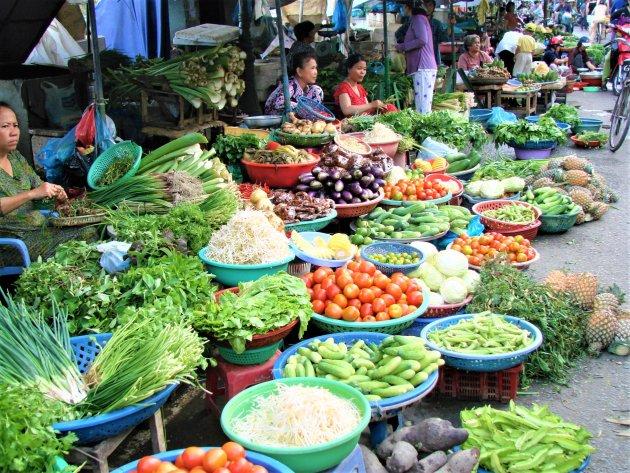 Groentemarkt in Hanoi