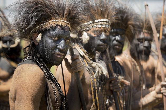Papua Nieuw Guinea Engafestival Hewa Tribe